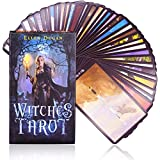Juegos de Tarot - WENTS Witch Tarot Card, Tarot Card Game, Divination Card Game, Unique and Exquisite Pattern, Colorful Box Packaging