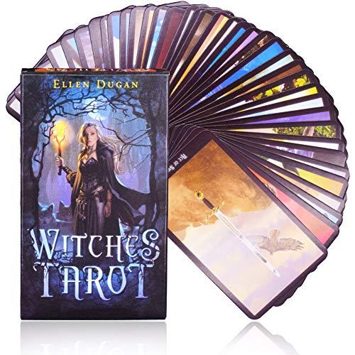 Tarot-Spiele - WENTS Hexe Tarot-Karte, Tarot-Kartenspiel, Kartenspiel der Weissagung, einzigartige und schöne Muster, Farbenkastenverpackung