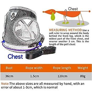 Harnais pour chat Adsshopp - Laisse réglable - Doux - Harnais de poitrine pour animaux de compagnie (gris, taille S)