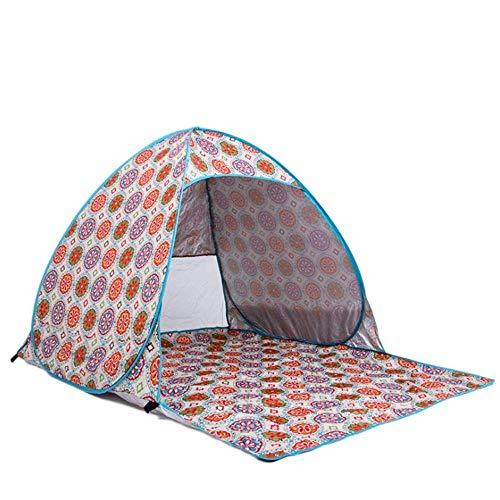 Tienda UV Protección 2 Personas Tienda de campaña Camping Floral Imprimir Pop-Up Toldo portátil Pesca Pista de Senderismo Picnic al Aire Libre CANOP Ultraligero (Tienda de la Tienda) TINGG