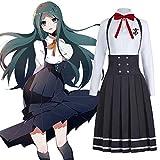 Shirogane Tsumugi JK uniform Cosplay Danganronpa V3: Killing Harmony Costume Girls Japanese School Uniform Women Sailor Suit Pleated Skirt (2XL, Full set)
