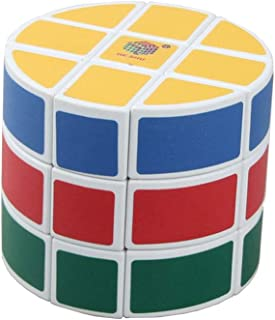 SUN-WAY 3x3 Barrel Cube 3x3 Round Column Speed Cube 3x3 Cylinder Cube 3-Layered Cheese UFO Cube 3x3x3 Magic Cube Puzzle Brain Teaser Puzzle Cube Toys