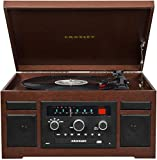 Crosley CR7007D-MA Patriarch 3-Speed Turntable with Radio, Cd Player, Aux-in and Bluetooth, Mahogany