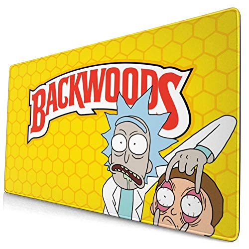 Backwoods Mouse Pad Laptop Pc with Rubber Base Thick Water-Resistant Mouse Pad Gaming and Office Desk Mat (15.8x29.5) in