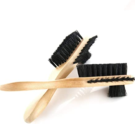Myzixuan with Handle Lotus Three-Sided Hair Shoe Brush not Dirty Hand Easy to Oil