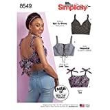 Simplicity US8549A Learn Women's Bralette Sewing Patterns, Sizes XXS-XXL