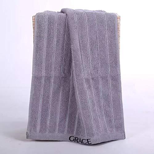 CMZ Toallas de algodón Puro Toallas para el hogar de Color sólido para Adultos Toallas Simples absorbentes Simples y Suaves (34x72 cm)