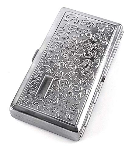 SL New Kasebi Victorian Style Cigarette Case Double Sided King & 100s Boteh Pattern…
