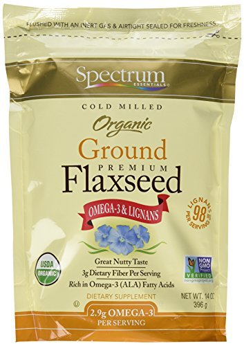 Spectrum Essentials Organic Ground Essential Flaxseed Supplement, 3 Count by Spectrum