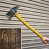 Halloween Props FOAM Sword Axe Bat Crowbar Hatchet Knife Hammer Wrench Sledgehammer Medieval Sword Roman Sword Spartan Sword For Halloween Costume Cosplay LARP Home Decor 52883 (27' Pickhead Axe)