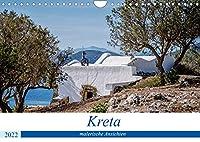 Kreta - malerische Ansichten (Wandkalender 2022 DIN A4 quer): Kreta - eine vielfaeltige Paradiesinsel in Griechenland (Monatskalender, 14 Seiten )