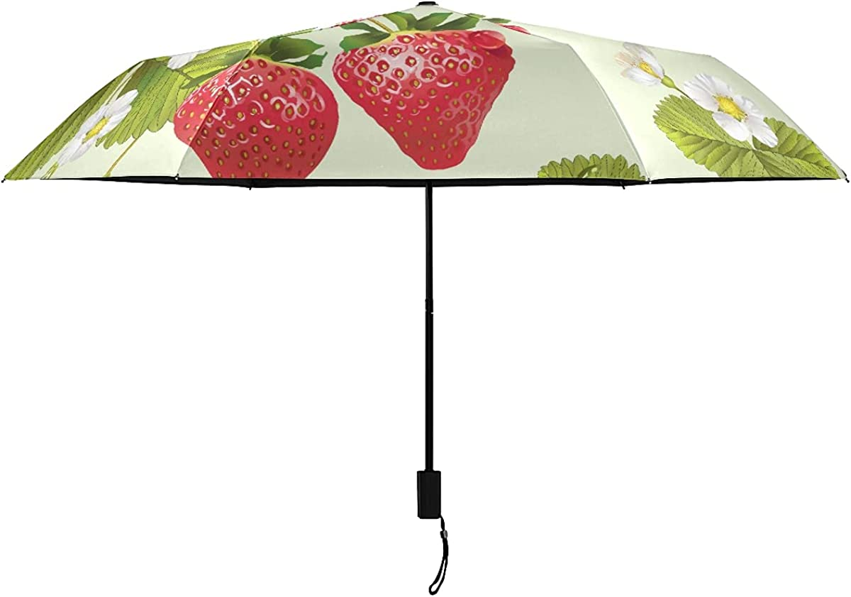 Umbrellas Product Inverted Red Daily bargain sale Color Strawberry St Leaf With Fruit Green