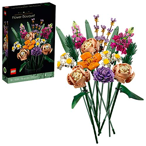 LEGO Flower Bouquet 10280 Building Kit; A Unique Flower Bouquet and Creative Project for Adults, New 2021 (756 Pieces)