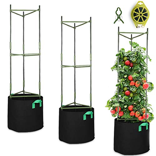 GROWNEER 3 Packs Plant Cages Assembled Tomato Garden Cages Stakes Vegetable...