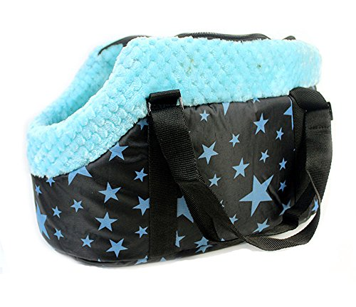 Efanr - Morbida e calda borsa con cerniera per cani e gatti di piccola e media taglia, a tracolla con stampa, comoda per viaggi e uscite all'aperto