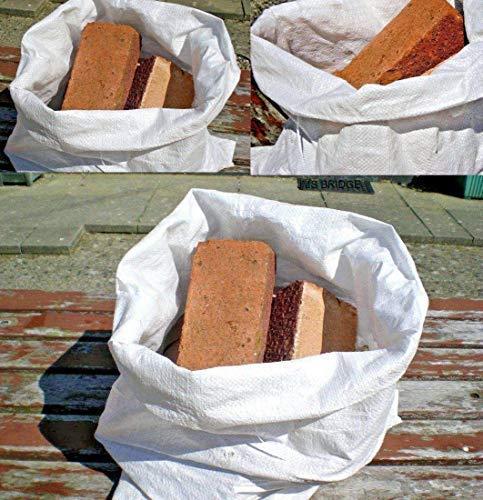 100bolsas de tejido, sacos de escombros de polipropileno, 55 x 83 cm