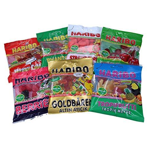 Haribo 100% Halal Gummibärchen Mix 7 Tüten ohne Schweinegelantine helal sweets candy