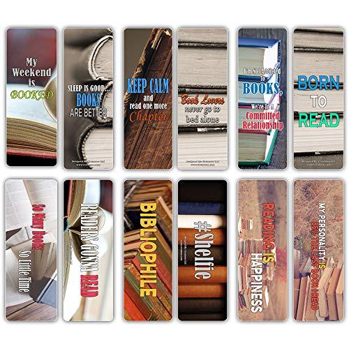 Creanoso Lecteur Lovers livresque Cartes Bookmarker (30-Pack) - Lecture Encouragement imagées pour lecteurs - Grand bas de Noël Cadeaux pour Nerds Livre, Book Lovers, Bookworms, bibliophiles, adultes