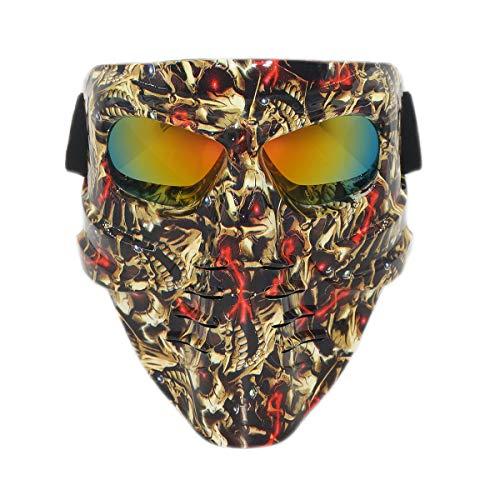 Vhccirt - Máscara de Paintball, Airsoft, Moto o esquí, máscara de Pesca, para Hombre, Calamar, decoración de Halloween, Lentes polarizadas, Arcoiris