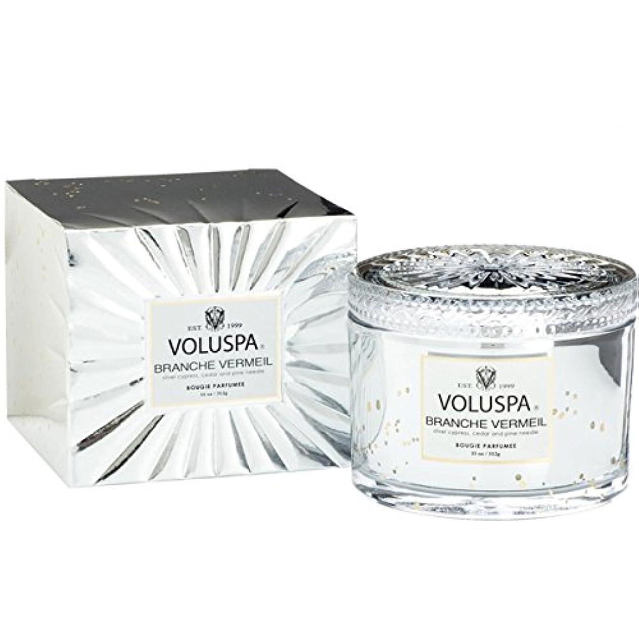 クレータートランジスタ忌まわしいVoluspa ボルスパ ヴァーメイル ボックス入り グラスキャンドル フ?ランチヴァーメイル BRANCHE VERMEIL VERMEIL BOX Glass Candle