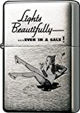 Zippo 'Skater Girl' Brushed Chrome Vintage Windproof Lighter