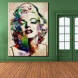 N / A Color Belleza Pintura al óleo Dormitorio Antiguo Pintura Cartel...