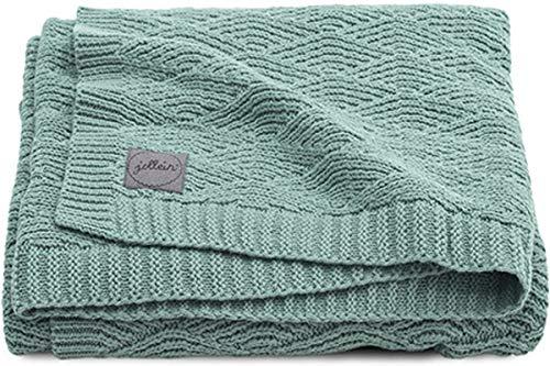 Jollein 516-522-65285 Kinder-Decke Strick Knit ash green Gr. 100x150 cm