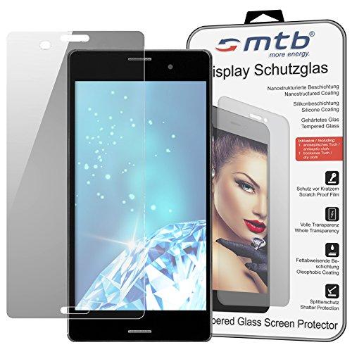 mtb more energy® Schutzglas für Sony Xperia Z3 (D6603, 5.2'') - Tempered Glass Protector Schutzfolie Glasfolie