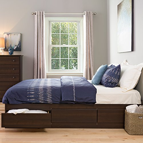 Prepac Espresso King Mate's Platform Storage Bed with 6 Drawers