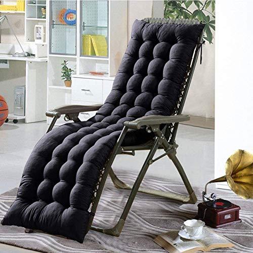 Bhu Lounge Chair Cushions, Chaise Lounge Cushion Patio Chair Cushions Outdoor Mattress Garden Sun Lounger Recliner Indoor Veranda (Black),Black