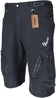 Lixada Men's Bicycle Shorts ,Breathable Mountain Bike Shorts Lightweight and Baggy MTB Shorts for Outdoor Cycling Running ...