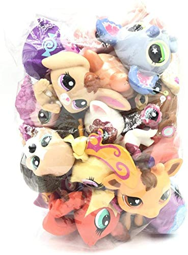 btbt Littlest Pet Shop Kid Toy LPS cat and Dogs 10 pcs Sparkle Spectacular Collection Pack Toy lot Mini Pet Shop Toys Rare Original Figure Animal,Compatible for lps Collection