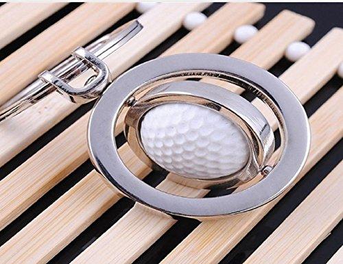 LL-Golf® drehbarer Golfball Schlüsselanhänger in 3D Optik/Golf Geschenk/Golfgeschenk