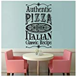 Authentische Pizza Logo Wandaufkleber Pizza Shop Dekoration
