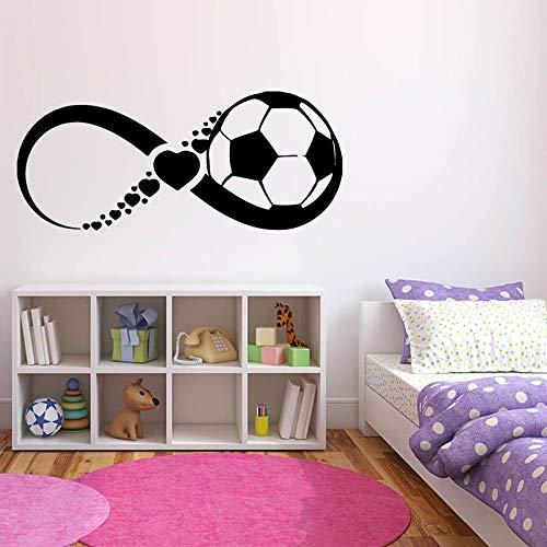 Calcomanías de pared de fútbol endaai sala de estar jugador de fútbol filipino dormitorio decoración del hogar niños y adolescentes pegatinas de pared de vinilo