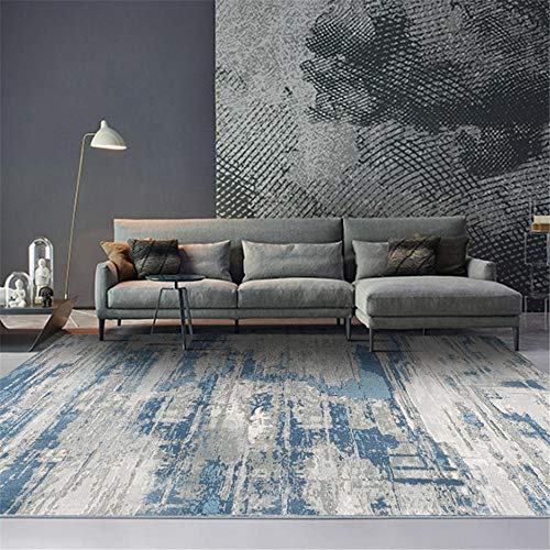 Alfombras alfombras de Salon Alfombra Suave con diseño de Tinta Azul y...
