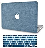 KECC Laptop Case for MacBook Pro 16' (2020/2019) w/Keyboard Cover Plastic Hard Shell Case A2141 Touch Bar 2 in 1 Bundle (Blue Fabric)