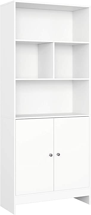 Libreria credenza armadietto con ante scaffale portaoggetti per soggiorno 70x29.6x167cm homfa HMD-120