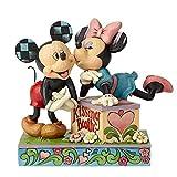 Disney Traditions, Figura beso Mickey y Minnie, para coleccionar, Enesco