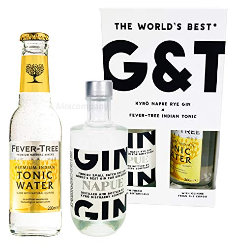 Gin Tonic Set Napue Gin 0,1l (46,3% Vol) + Fever-Tree Indian Tonic 0,2l - [Enthält Sulfite] - Inkl. Pfand MEHRWEG