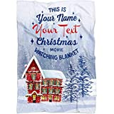Personalized Christmas Blanket Huge Collection with Best Design, Cool Quotes Must Have for Christmas. Merry Christmas Throw Gift for Baby Girl Boy Dad Mom Grandma Grandpa (House, Fleece 50' x 60')
