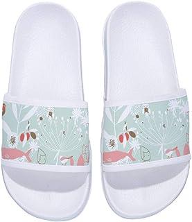 Cartoon Cute Abstract Elephants Summer Slide Slippers For Men Women Kid Indoor Open-Toe Sandal Shoes