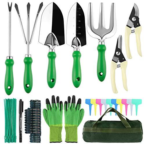 Minterest 60 Piezas Herramientas Jardinería, Kit Jardineria Guantes Jardineria Acero Pala Jardineria...