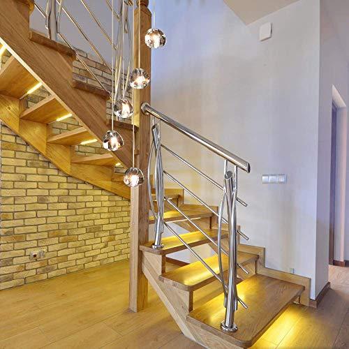 Led samtida pendellampa matbord ljuskrona villa höjd justerbar upphängning från kök glas korridor kristall trappa vardagsrum hotell kan anpassas (cirkel, 5 lampor)