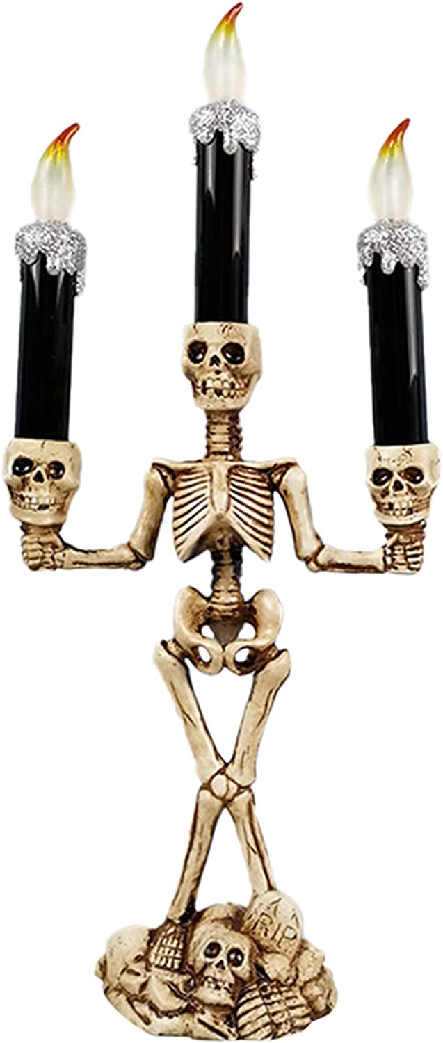 wastreake Halloween LED Electronic Candle Or Light Skull Max 49% OFF trust