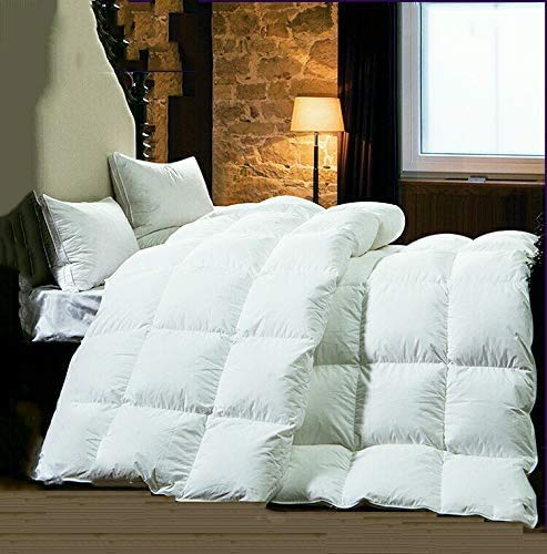 Jennifer jd Davidson Double Duvet Duck Feather and Down 13.5 Tog Premium Extra Thick Comfortable Filling Warm Winter Double Quilts Super Soft Anti-Allergy Energy Efficient By Adam Home