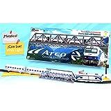 Tren Electrico Metalico con LUZ ARCO Renfe con Puente y Accesorios 525_tren