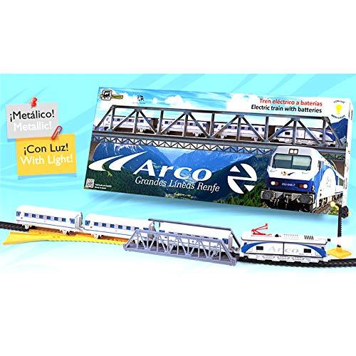 ONOGAL Train électrique en métal avec ARCO Renfe Light avec Pont et Accessoires 525_tren