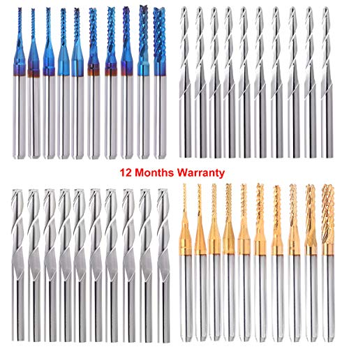 40Pcs End Mill Bits Set 1/8