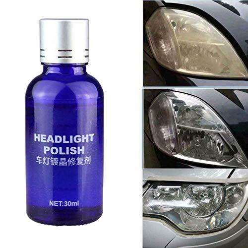 30ML 9H Car Headlamp Headlight Lens Restorer Repair Liquid Polish Cleaning Tool